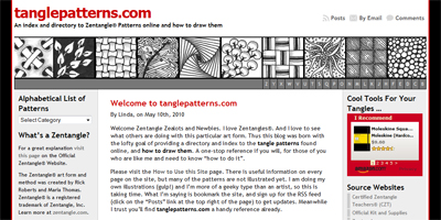Snapshot of my news website: tanglepatterns.com