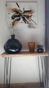 Tableau abstrait, décoration intérieure