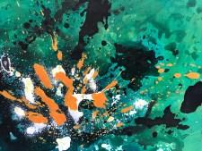 Tableau abstrait contemporain peint à la main - Trofa