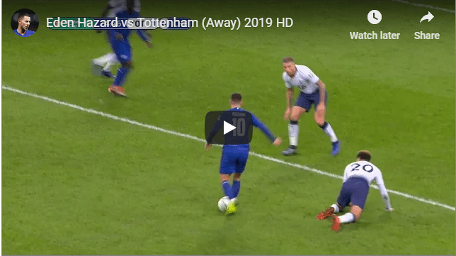 Eden Hazard vs Tottenham (Away) 2019 HD
