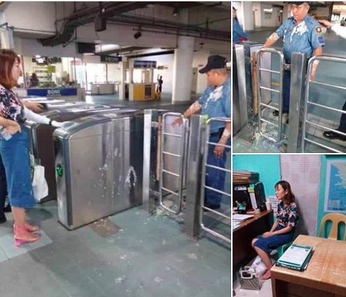Police officer involved in viral taho-throwing MRT incident gets medal