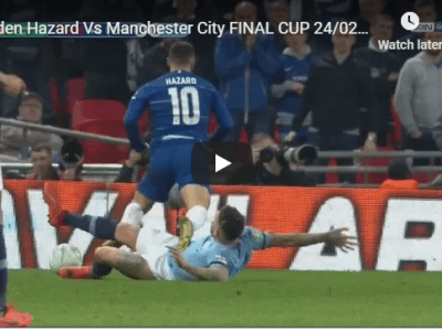 Eden Hazard Vs Manchester City FINAL CUP 24/02/2019