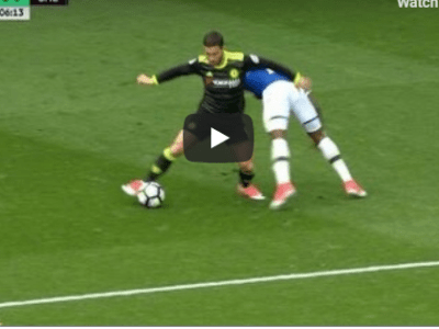 Eden Hazard vs Everton English premier league