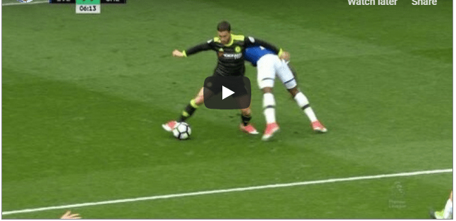 Eden Hazard vs Everton English premier league