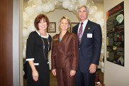 Dr. Glessner with Rick Bobbigan and Barbara Thompson, President of Houston Northwest Chamber of Commerce at the grand opening of PLACH.