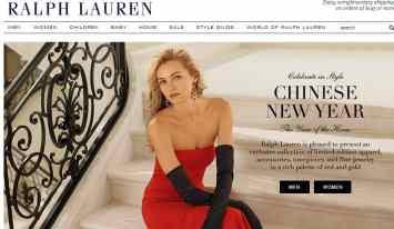 Screenshot Ralph Lauren Website