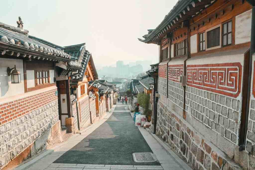 Bukchon Hanok Village view in Seoul