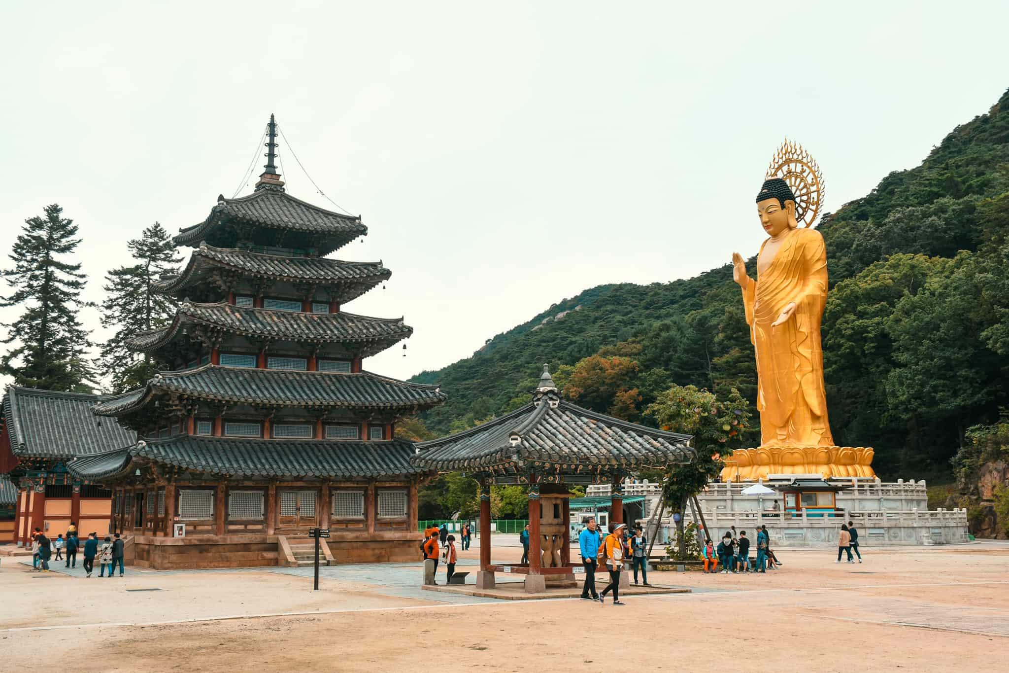 Beopjusa Temple with big Buddha