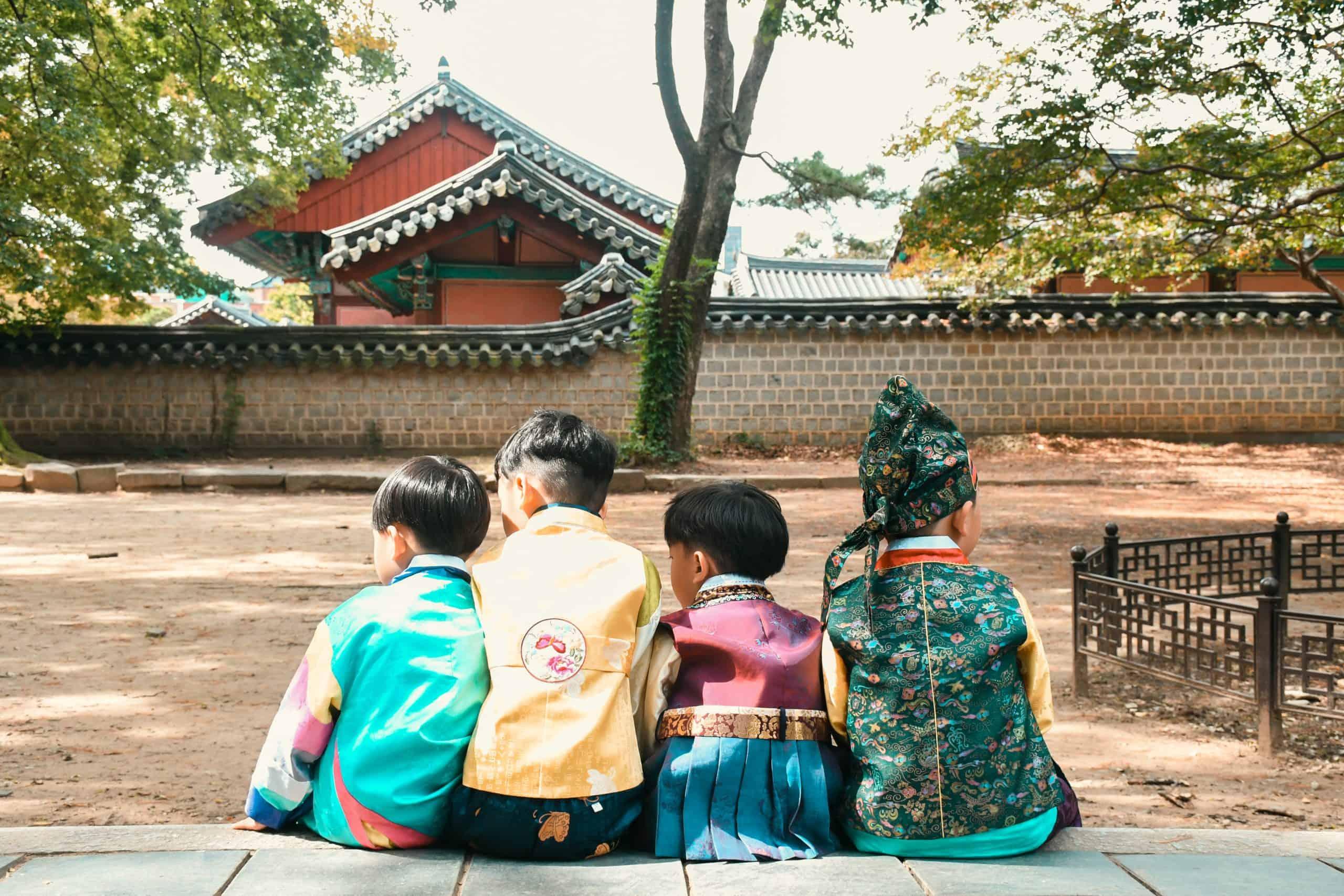 boys in jeonju hanok village