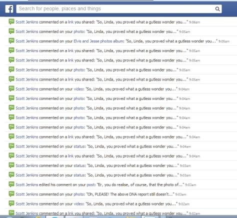 Scott Jenkins on my LindaHoodSigmon Facebook fan page