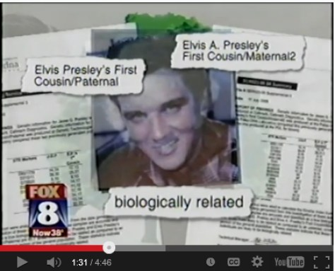 FOX 8 DNA between Jesse and two of Elvis' first cousins
