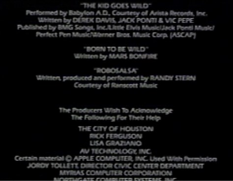 Robocop credits song THE KID GOES WILD was co published by LITTLE ELVIS MUSIC