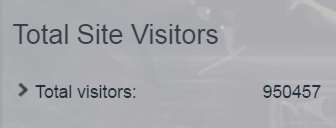 950,000 visitor count on my site