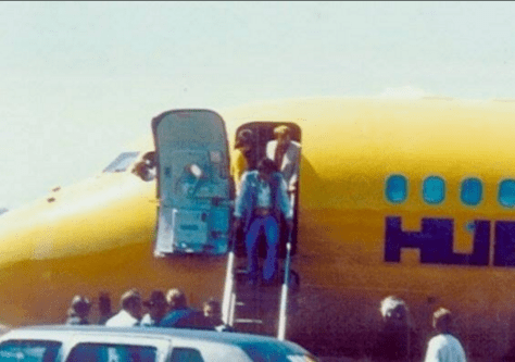 Elvis leaving a Hughes plane in 1973 Elvis Presley Life Thru A Lens