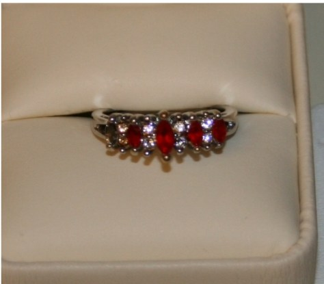 Jesse's mother's ruby ring