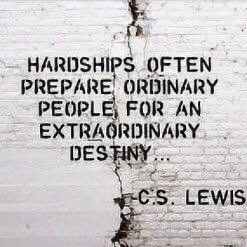 Hardship's prepare ordinary people