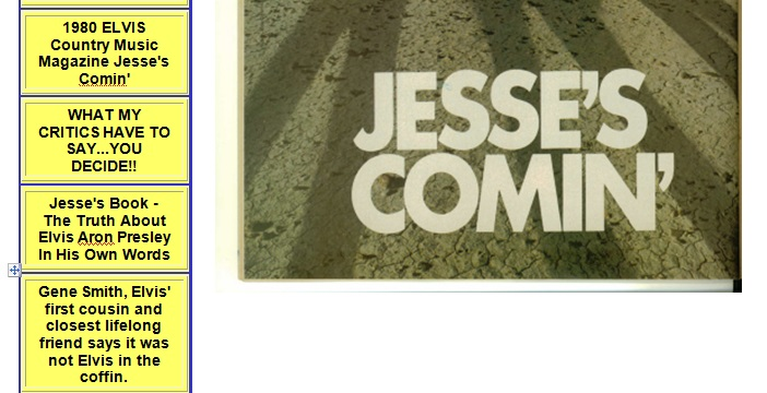 Jesse's Comin magazine proof of existence of this page from TipTop host site.