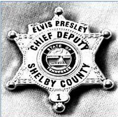 Elvis' 3rd deputy badge