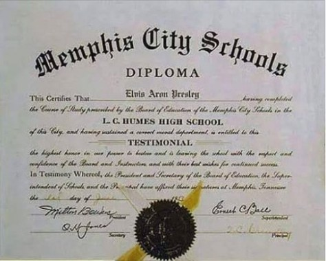 Elvis' High School Diploma