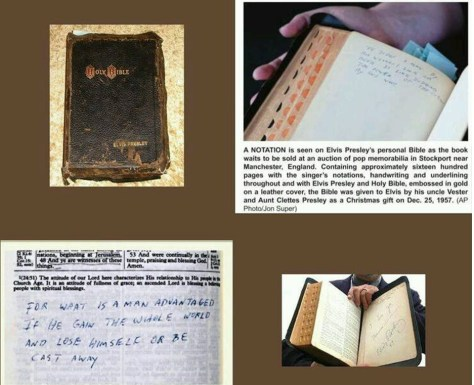Elvis' Bible with his notations