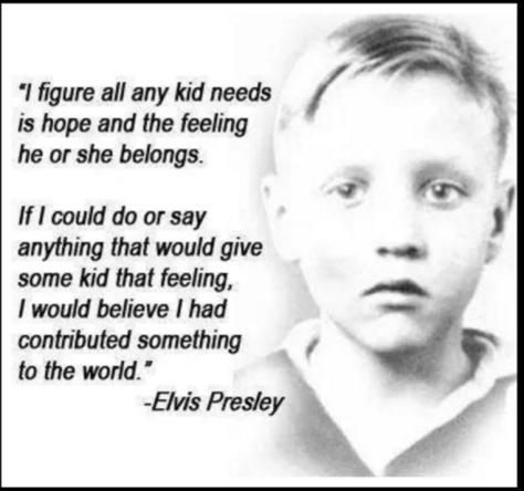 Tupelo Boy photo with Elvis quote
