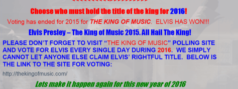 Heading of pages - 2016 vote for Elvis as King of Music