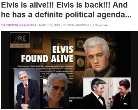 Examiner collage of fake photos of Elvis