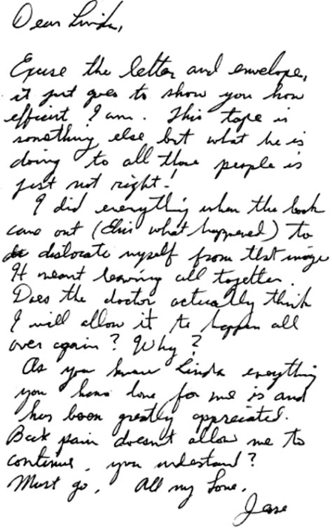 Jesse's letter to me in July, 2002 about Hinton