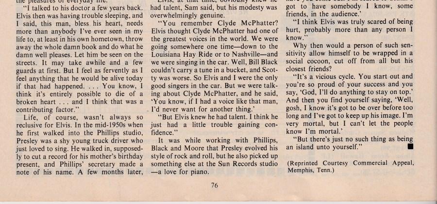Country Music Mag. Elvis SUNSET bottom half New