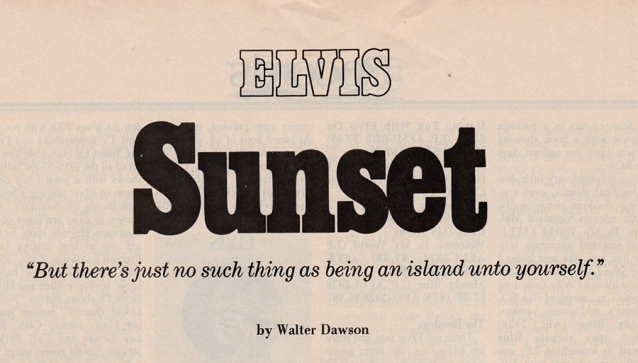 Country Music Mag. Elvis SUNSET headline New
