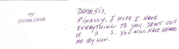 Jesse's most recent note to me