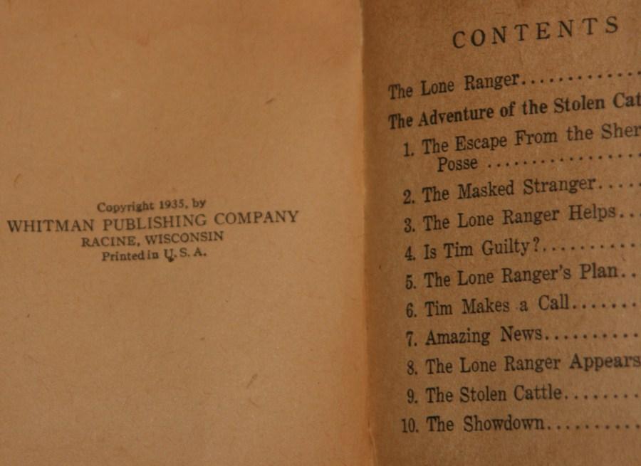 Elvis Jesse Lone Ranger book publication date 1935.JPG
