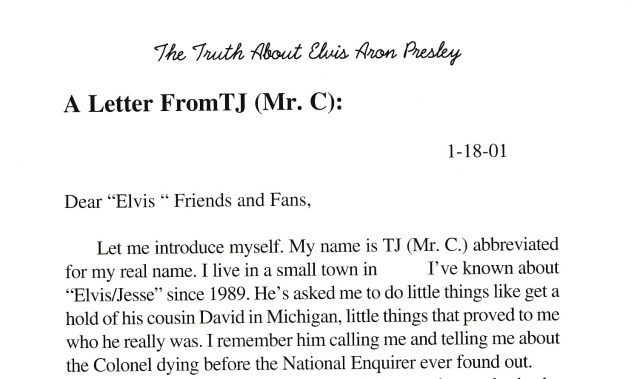 Terry's letter in Jesse's book x