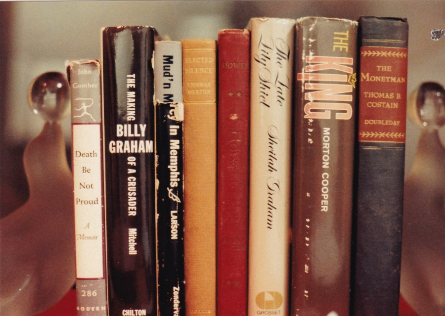 Elvis' books on display