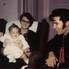 Dodger with baby Lisa and Elvis