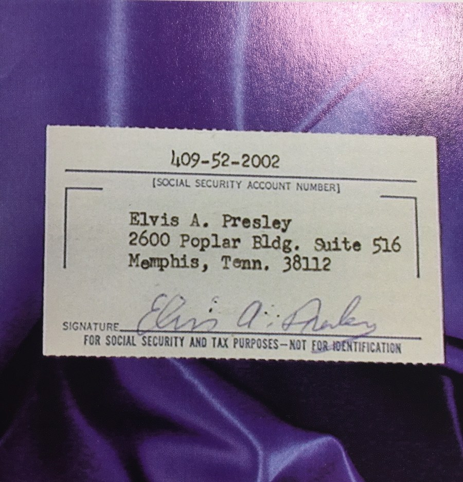 Elvis archives social security card