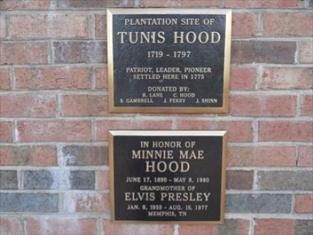 Tunis Hood and Minnie Mae Hood plaques