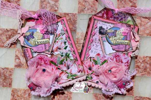 Pink Floral Napkin Tag Tutorial