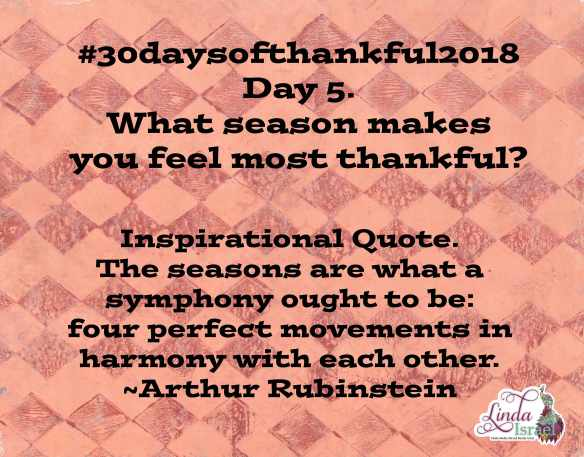 Day 5 of 30 days of Thankful 2018