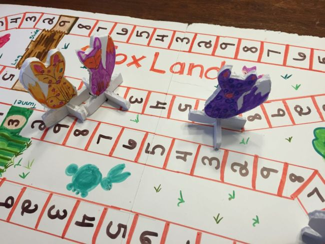 Foxland, a multiplication game