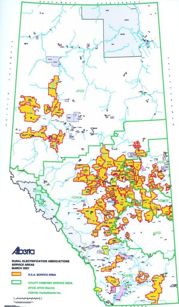 Alberta REA Map