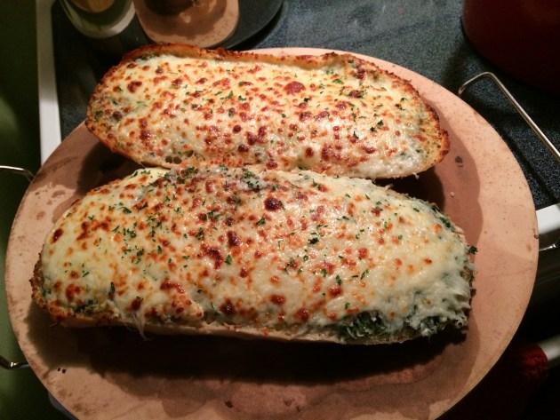 Cheesy Buttery Ciabatta Garlic Bread