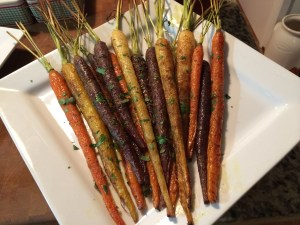 Curry and Ginger Roasted Oraganic Baby Carrots