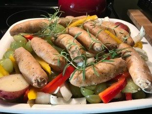 Tuscan Style Roasted Sausage And Grapes (15)