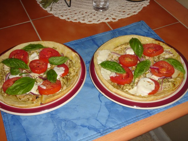 Grilled Chicken Caprese Tarts