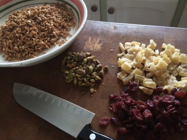 Cranberry, Pineapple, And Pistachio Farro (2)