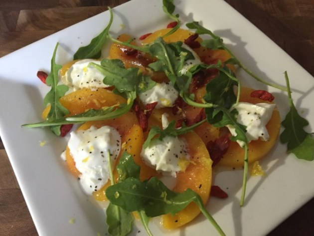Burrata And Peaches