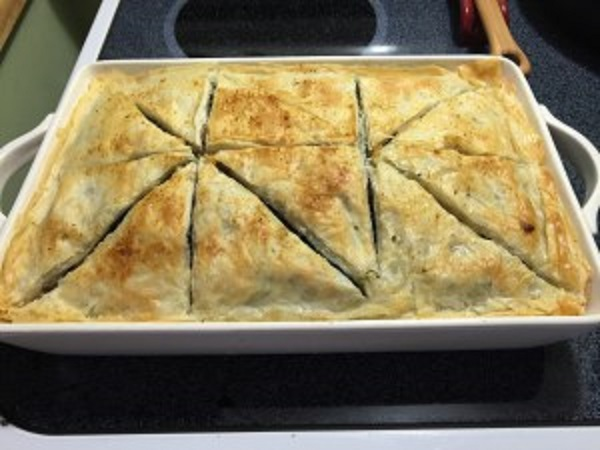 Spinach And Feta Pie With Sweet Italian Sausage
