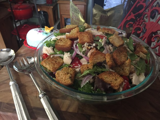 Rottiserie Chicken Salad With Homemade Croutons