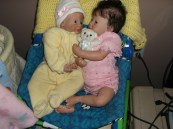 My Juliet playing with her sister, who soon after went to her new mom.